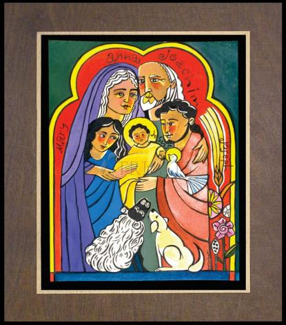 Wood Plaque Premium - Extended Holy Family by M. McGrath