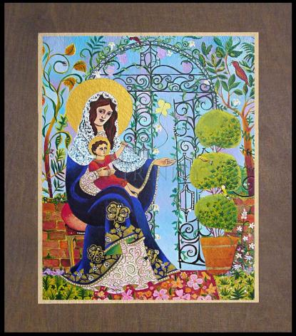 Wood Plaque Premium - Mary, Gate of Heaven by M. McGrath