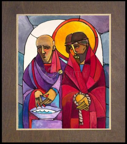 Wood Plaque Premium - Stations of the Cross - 01 Jesus is Condemned to Death by M. McGrath