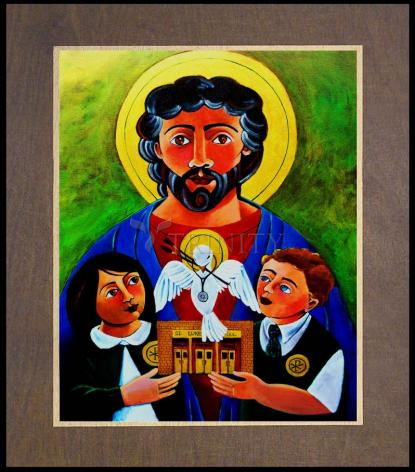 Wood Plaque Premium - St. Luke the Evangelist by M. McGrath
