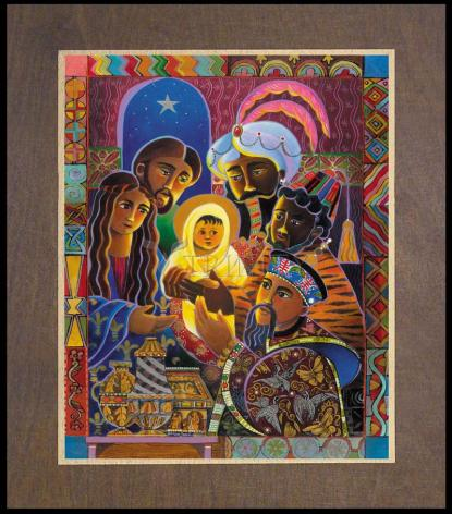 Wood Plaque Premium - Light of the World Nativity by M. McGrath