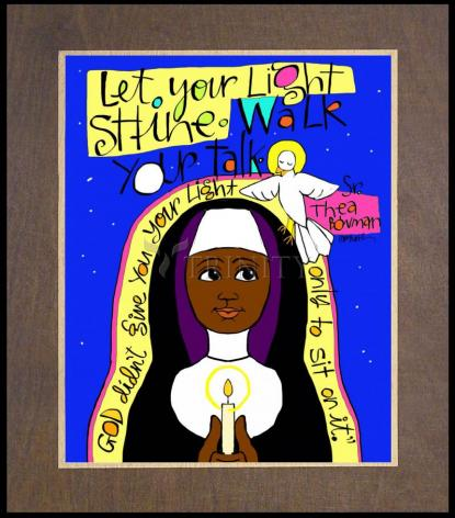 Wood Plaque Premium - Sr. Thea Bowman: Let Your Light Shine by M. McGrath