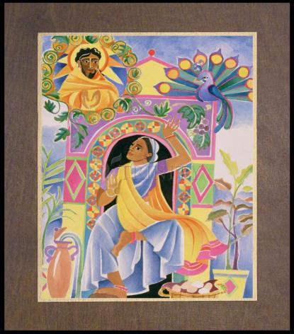 Wood Plaque Premium - St. Mary Magdalene at the Tomb by M. McGrath