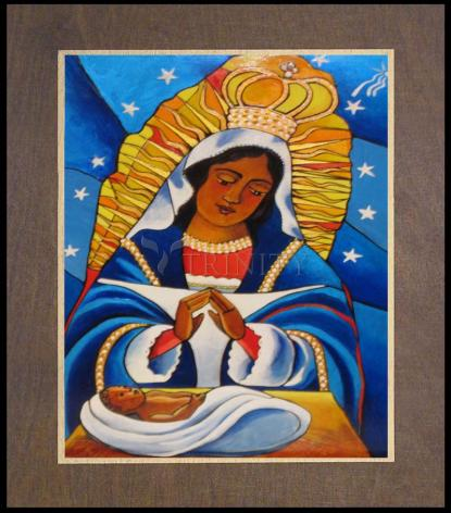 Wood Plaque Premium - Our Lady of Altagracia by M. McGrath