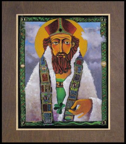 Wood Plaque Premium - St. Patrick by M. McGrath