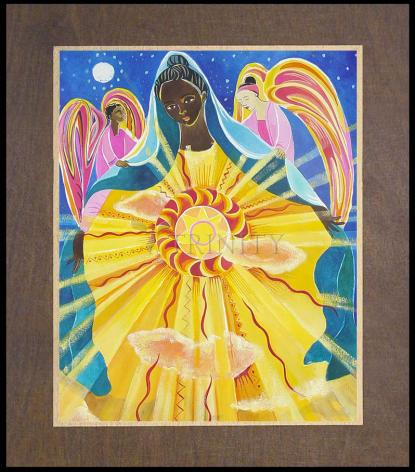 Wood Plaque Premium - Mary, Queen of the Universe by M. McGrath
