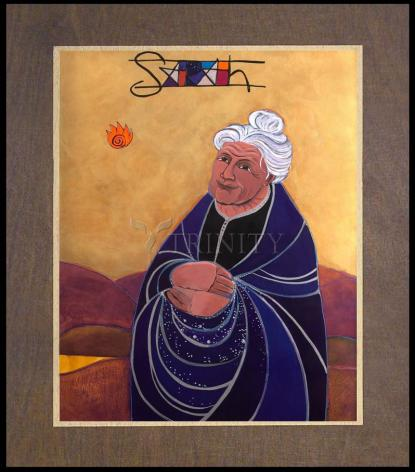 Wood Plaque Premium - St. Sarah by M. McGrath