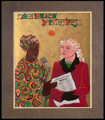 Wood Plaque Premium - Sr. Thea Bowman and Dorothy Day by M. McGrath