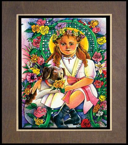 Wood Plaque Premium - St. Thérèse, the Little Doctor by M. McGrath
