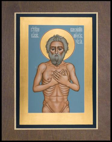 Wood Plaque Premium - St. Basil the Blessed of Moscow by R. Lentz