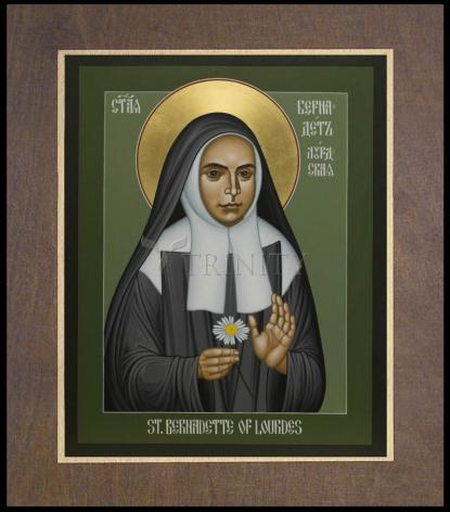 Wood Plaque Premium - St. Bernadette of Lourdes by R. Lentz