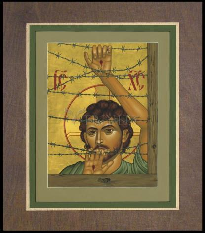 Wood Plaque Premium - Christ of Maryknoll by R. Lentz