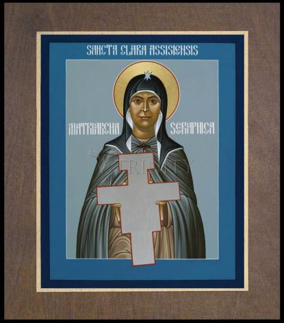 Wood Plaque Premium - St. Clare of Assisi: Seraphic Matriarch by R. Lentz