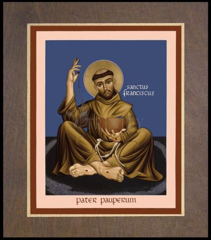 Wood Plaque Premium - St. Francis, Father of the Poor by R. Lentz