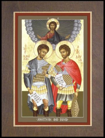 Wood Plaque Premium - Jonathan and David by R. Lentz