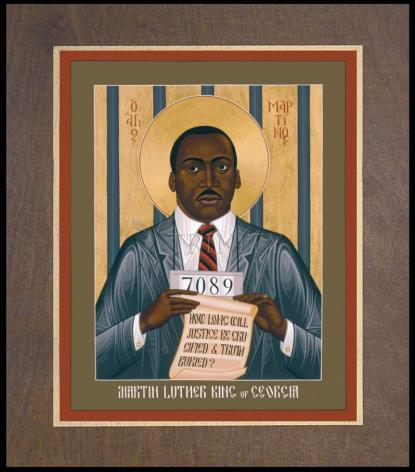 Wood Plaque Premium - Martin Luther King of Georgia by R. Lentz