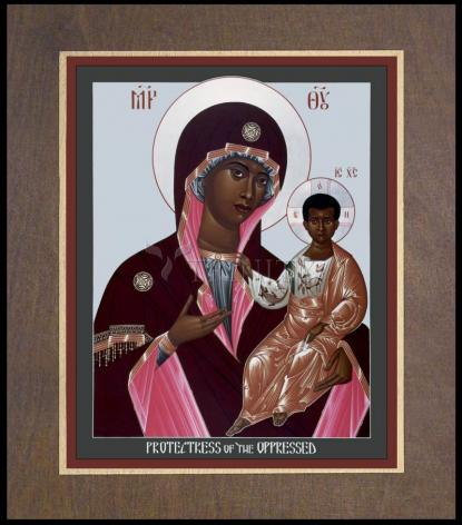 Wood Plaque Premium - Mother of God: Protectress of the Oppressed by R. Lentz