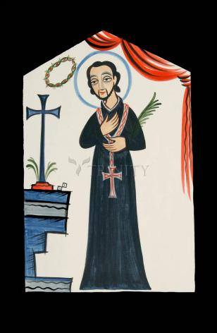 Wood Plaque - St. Cayetano by A. Olivas