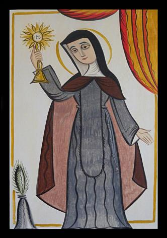 Wood Plaque - St. Clare of Assisi by A. Olivas