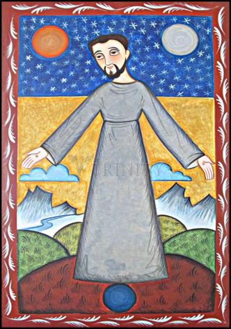 Wood Plaque - St. Francis of Assisi, Br. of Cosmos by A. Olivas