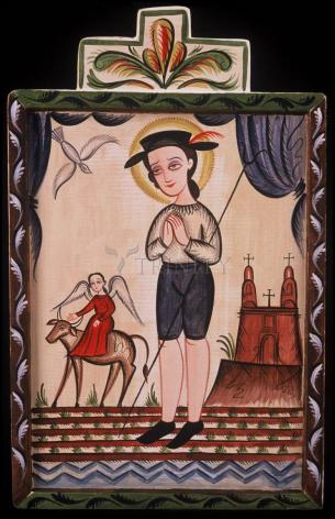 Wood Plaque - St. Isidore by A. Olivas