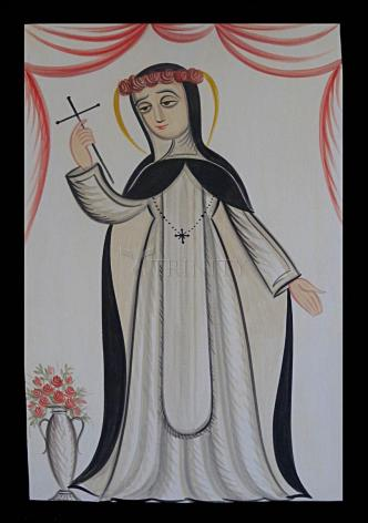 Wood Plaque - St. Rose of Lima by A. Olivas