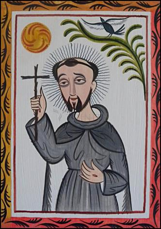 Wood Plaque - St. Francis of Assisi by A. Olivas