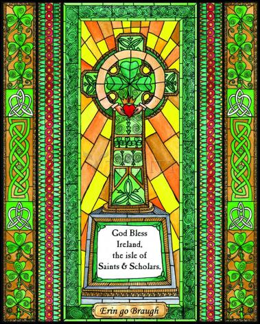 Wood Plaque - Celtic Cross by B. Nippert