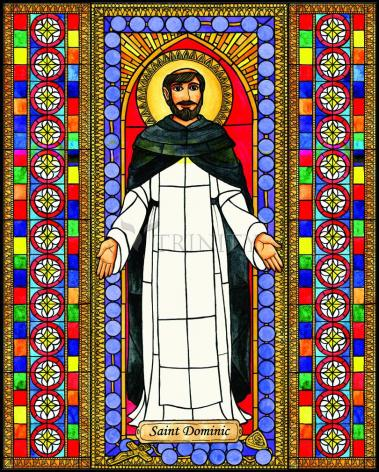 Wood Plaque - St. Dominic by B. Nippert