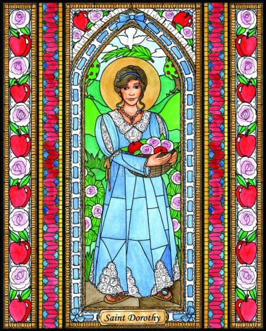 Wood Plaque - St. Dorothy by B. Nippert