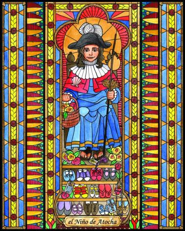 Wood Plaque - Holy Child of Atocha by B. Nippert