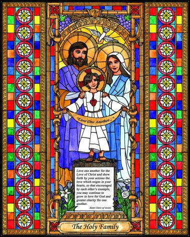 Wood Plaque - Holy Family by B. Nippert
