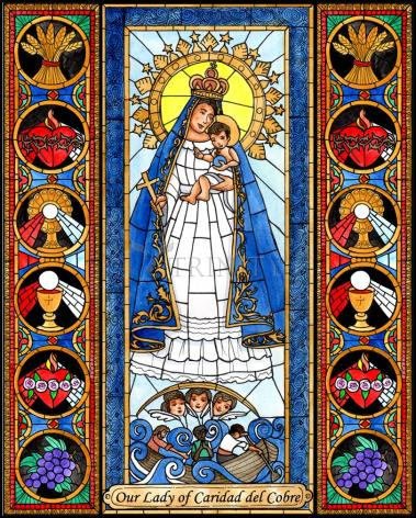 Wood Plaque - Our Lady of Caridad del Cobra by B. Nippert