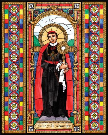 Wood Plaque - St. John Neumann by B. Nippert