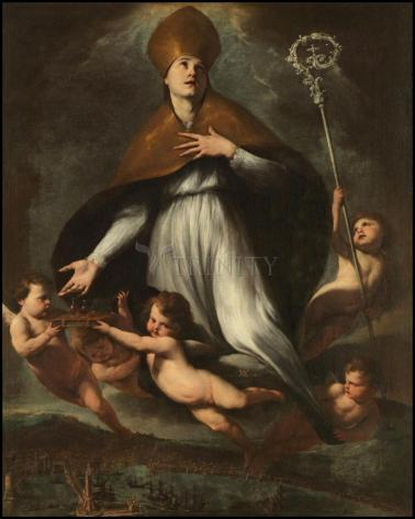 Wood Plaque - Ascension of St. Gennaro by Museum Art