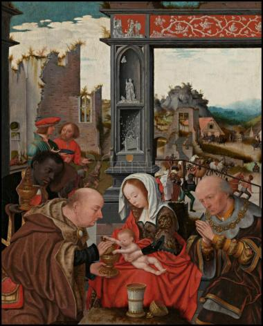 Wood Plaque - Adoration of the Magi by Museum Art