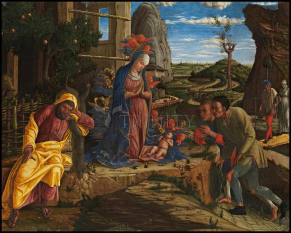 Wood Plaque - Adoration of the Shepherds by Museum Art