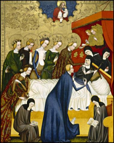 Wood Plaque - Death of St. Clare of Assisi by Museum Art