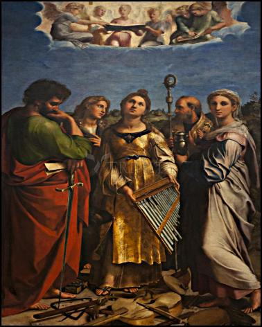 Wood Plaque - Ecstasy of St. Cecilia by Museum Art