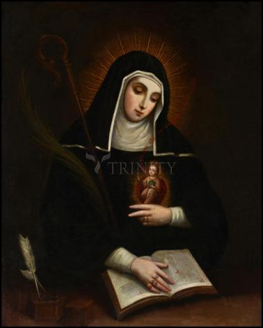Wood Plaque - St. Gertrude by Museum Art