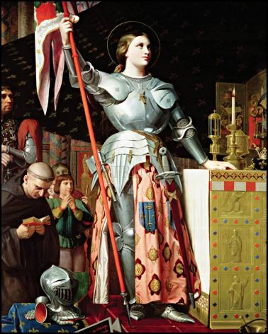 Wood Plaque - St. Joan of Arc at Coronation of Charles VII by Museum Art