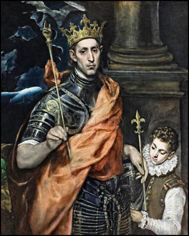 Wood Plaque - St. Louis, King of France by Museum Art