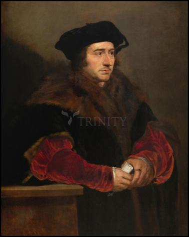 Wood Plaque - St. Thomas More by Museum Art