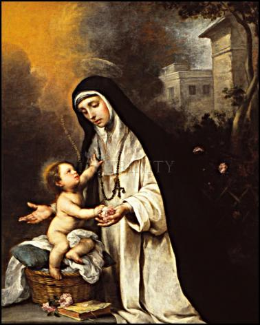 Wood Plaque - St. Rose of Lima by Museum Art