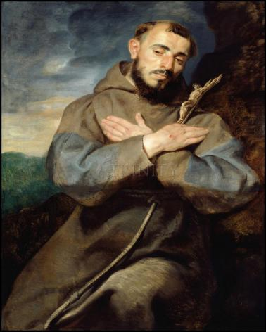 Wood Plaque - St. Francis of Assisi by Museum Art