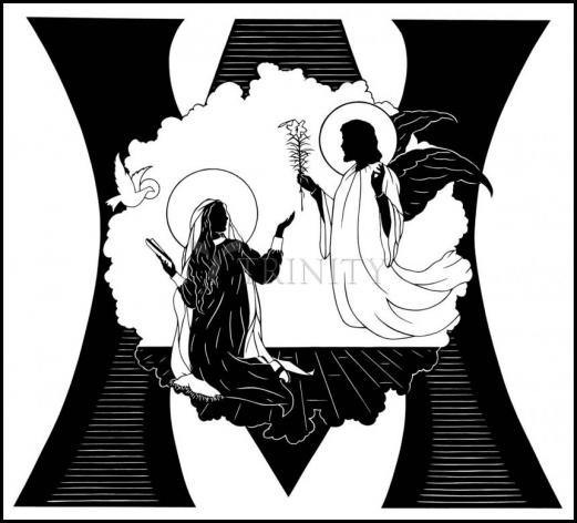 Wood Plaque - Annunciation by D. Paulos