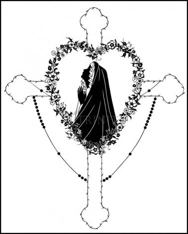 Wood Plaque - Our Lady of the Rosary by D. Paulos