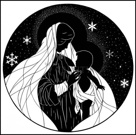 Wood Plaque - Our Lady of the Snows by D. Paulos