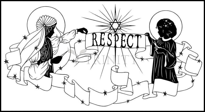 Wood Plaque - Respect by D. Paulos