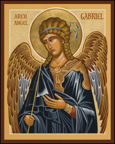 Wood Plaque - St. Gabriel Archangel by J. Cole